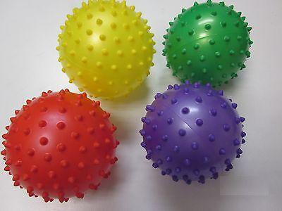 Sensory Massage Ball knobbly therapy soft bumpy 8cm autism 3 x balls SET 8080S