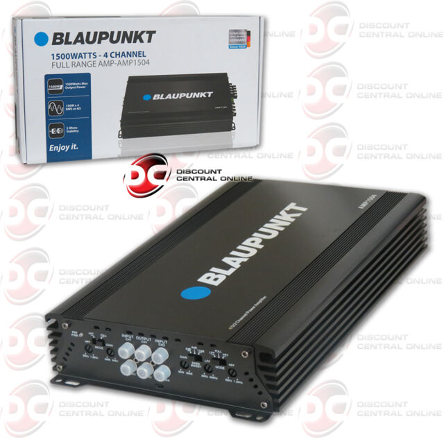 BLAUPUNKT AMP1504 CAR AUDIO 4 CHANNEL AMP AMPLIFIER 1500W MAX PEAK POWER