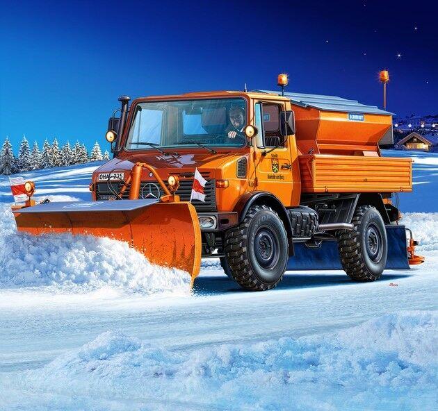 Revell 07438 mercedes - benz unimog u 1300l  winterdienst kit - 1   24 scala - t48