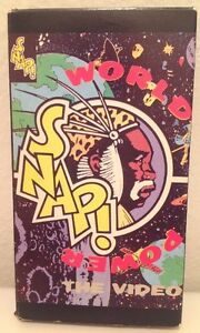 SNAP-WORLD-TOUR-THE-VIDEO-LIVE-VHS-NTSC-VIDEO-A-RARE-FIND