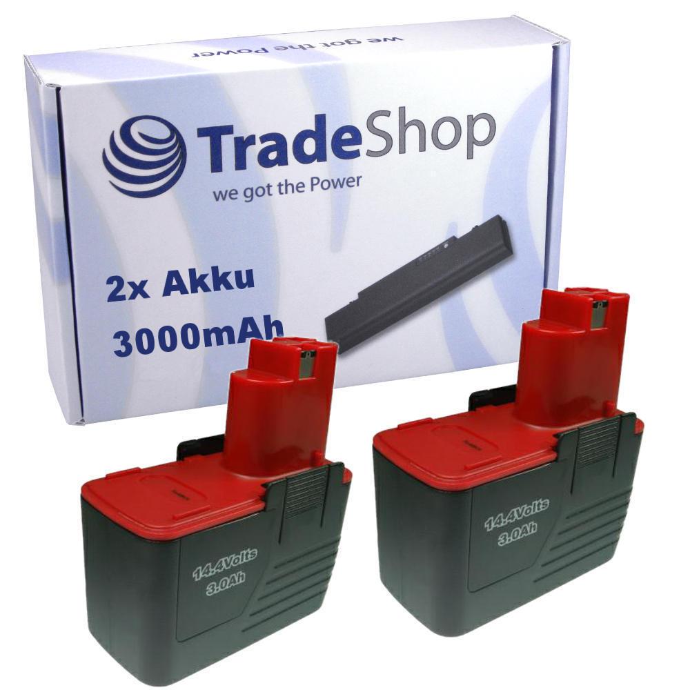 2x Akku 3000mAh 14,4V für BOSCH GSR 14,4 VES-2 VPE-2 14,4VPE2 14,4VES2