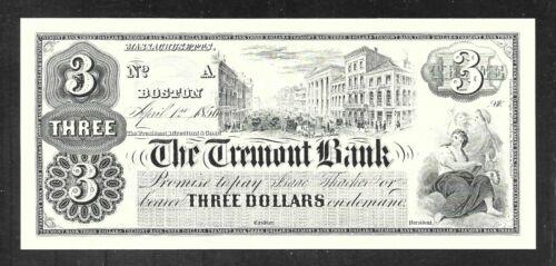 Boston ABNC Proof Print $3.00 The Tremont Bank