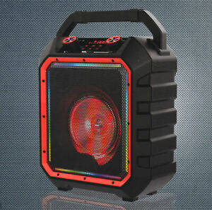 Details about Blackweb BWD10AAS10 Portable 10-Watt Bluetooth Party Speaker,  Black - Easy to