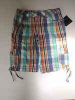 Cute Girls Falls Creek Bermuda Plaid Shorts Size 7 100% Cotton With Tags