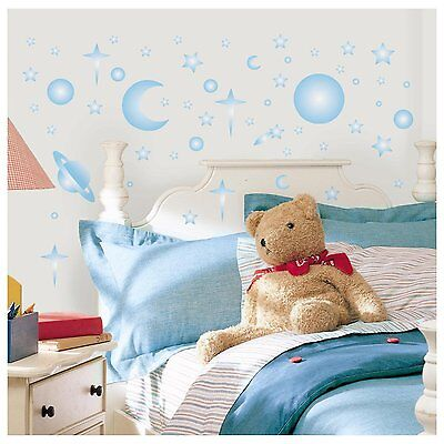 RoomMates Celestial Glow in The Dark Moon Stars Wall Stickers Decals