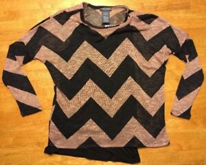 NWT-Chelsea-amp-Theodore-Women-039-s-Brown-Striped-Printed-Sweater-w-Tank-Top-Medium