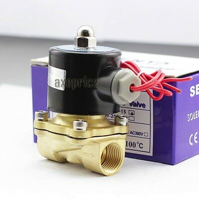 """240V 1/2"""" Electric Solenoid Valve Water Air Normally Closed Solid Copper Coil"""