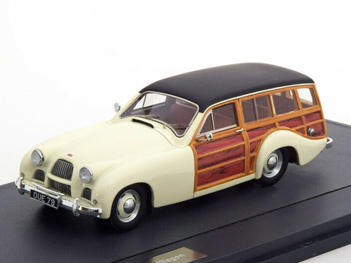 Scale model car 1 43 ALLARD P2 Safari Station Wagon 1954 White Wood