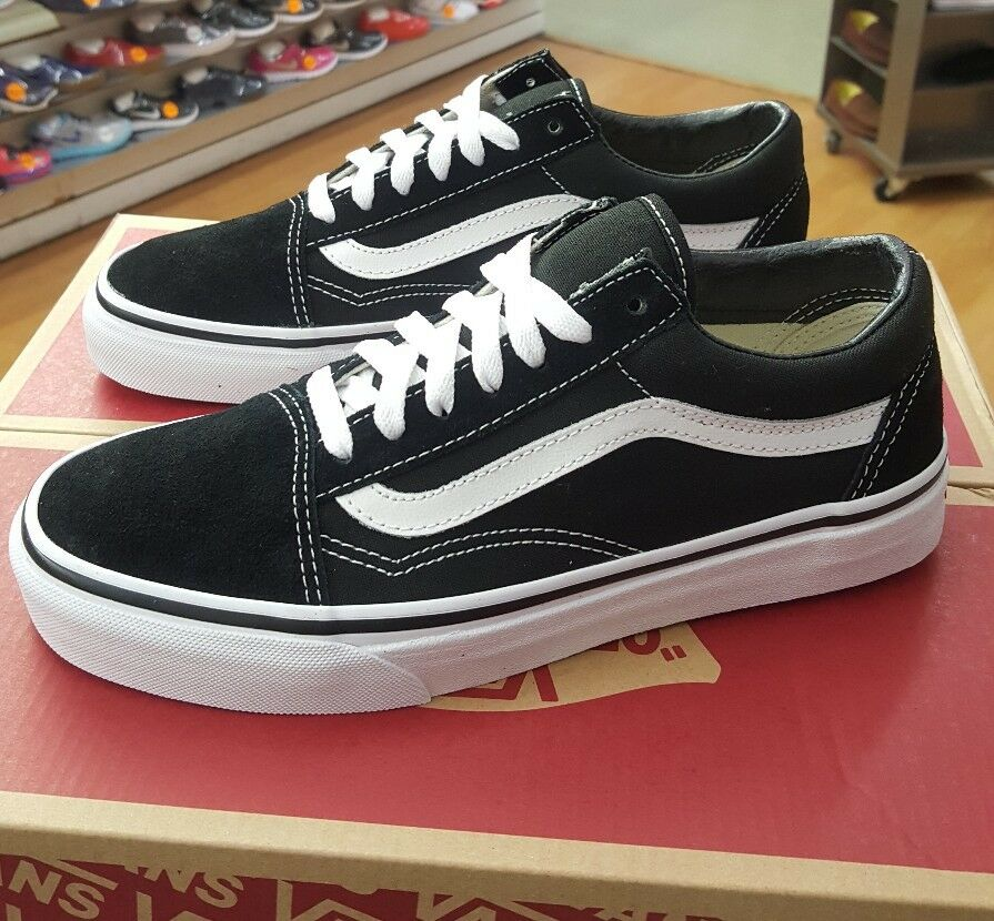 VANS  OLD SKOOL VN000D3HY28 SUEDE CANVAS BLACK/WHITE  VANS MEN US SZ 9.5 347499