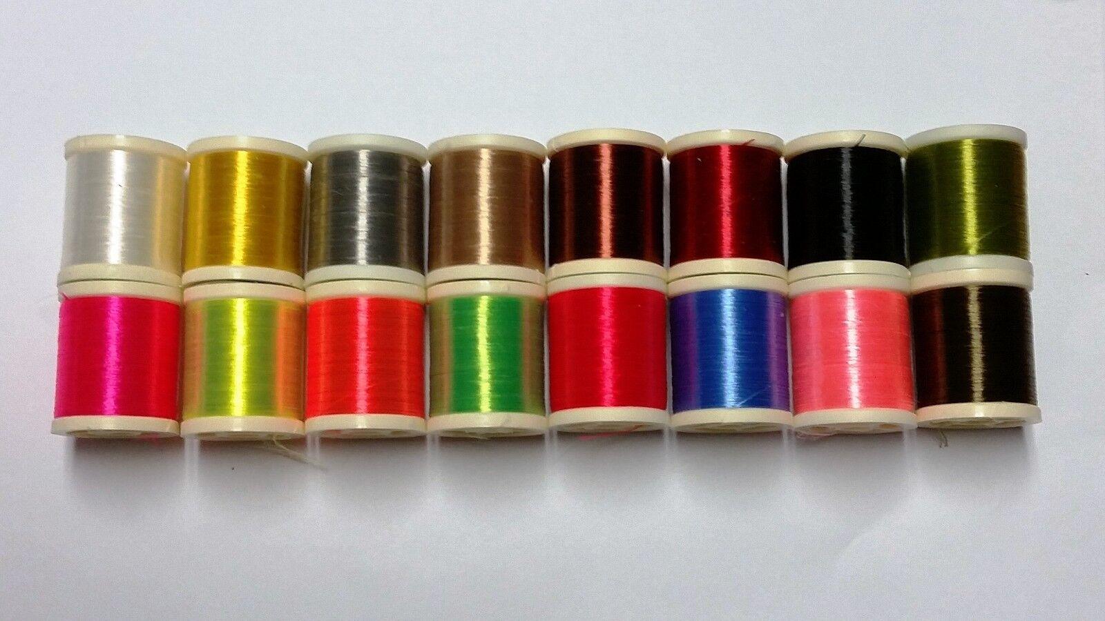 1 spool  Danville fly tying nylon floss Fl orange 210 denier 100 yd spl