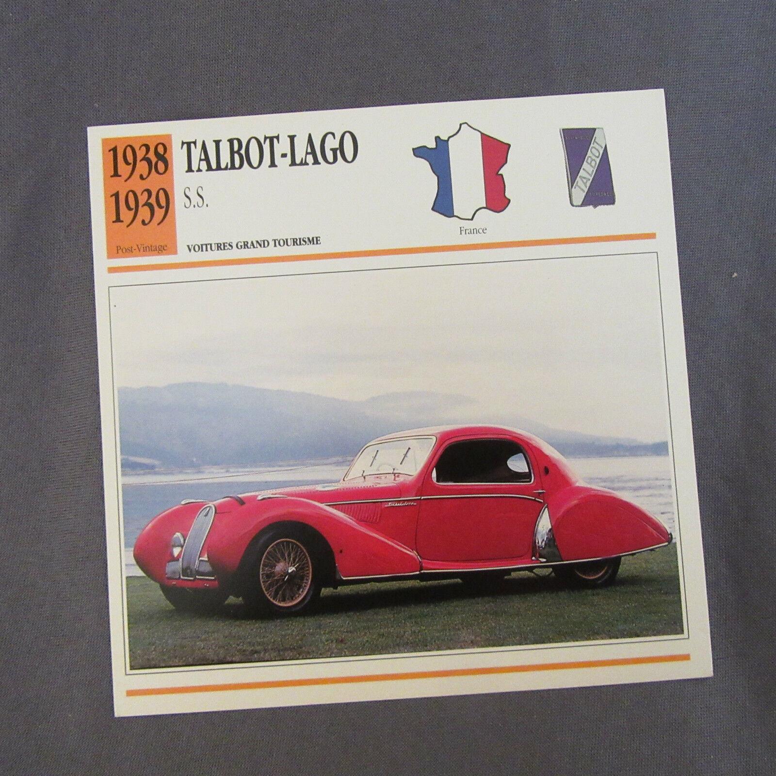 661C Edito Service Fiche Dépliant Talbot-Lago SS