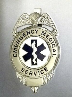 Emergency Medical Services Silver Blue Star of Life EMT EMS Badge New