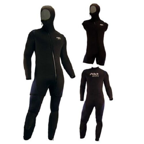 Promate Avalon 6mm Men/'s 2-Piece Hooded Semi-Dry Full Suit Scuba Diving Wetsuit