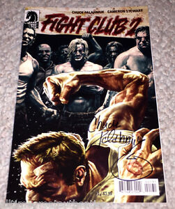 218bd924a7588 Details about FIGHT CLUB 2 #1 COMIC SIGNED BY CHUCK PALAHNIUK AUTHOR w/COA  LEE BERMEJO VARIANT