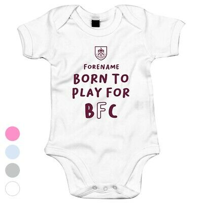 Burnley F.c - Personalizzato Body (born To Play)-mostra Il Titolo Originale Prezzo Di Strada