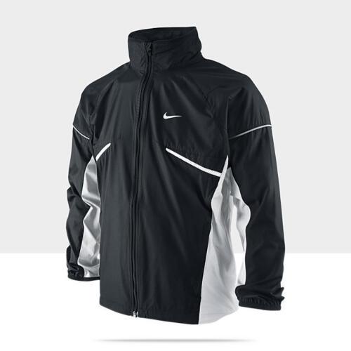 Nike Boy/'s Microfiber Black Zip-Up Long Sleeve Running Jacket S-XL 403902-011