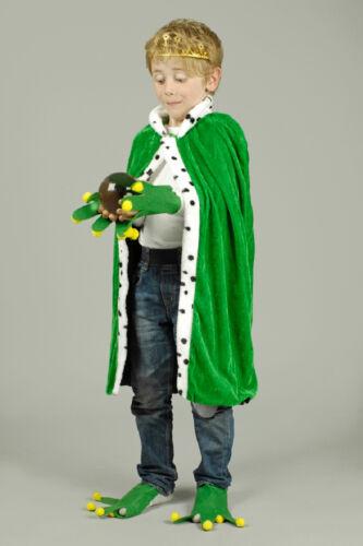 König Umhang Mantel Königskostüm Märchen Frosch Kostüm Froschkönig 3-tlg