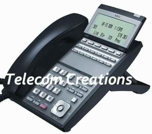 NEC UX5000 DG-12e 12 BUTTON DISPLAY PHONE BLACK 0910044  IP3NA-12TXH Refurbished