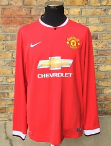 2082254f0bc Image is loading Official-Nike-Manchester-United-2014-15-Chevrolet-Mens-