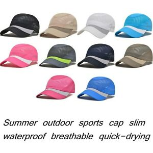 d1d6b7d94ed745 Image is loading Summer-Outdoor-Unisex-Quick-drying-Cap-Sports-Baseball-