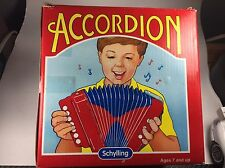 Vintage Schylling Mini Accordion with Original Box