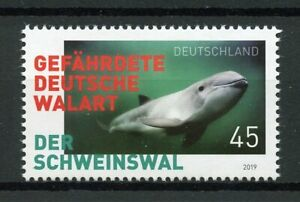 Allemagne-2019-neuf-sans-charniere-Marsouins-animaux-marins-1-V-Set-BALEINES-DAUPHINS-timbres