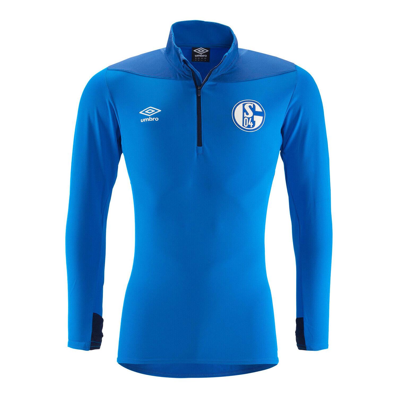 Umbro FC Schalke 04 Herren Half Zip Shirt 18 19 - 79606U-GTA royalblau
