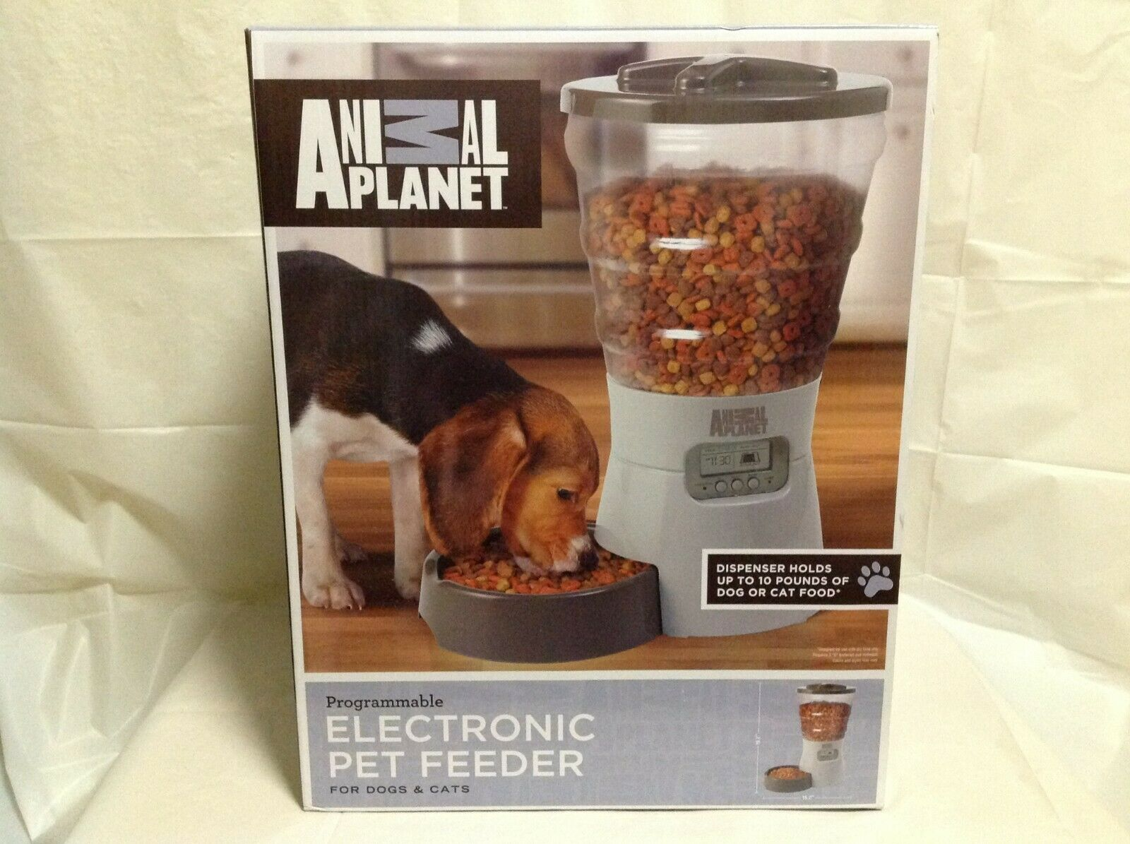 Animal Planet Programmable Electronic Pet Feeder For Dogs And Cats  New