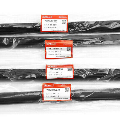 4pcWeatherstrip Window Molding Trim Sill Seal Belt For Toyota Highlander 2008-10