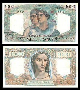 FRANCE 1946 1000   1,000  FRANCS * Minerve & Hercule * VF + / XF Bank Note