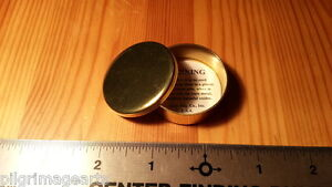 Ted-Cash-Solid-Brass-Cap-Box-ear-plugs-Flat-Top-Made-in-USA