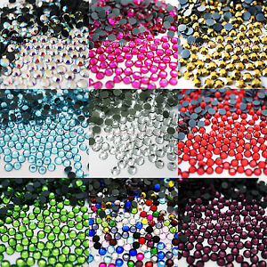 1000-GLASS-HOTFIX-IRON-ON-RHINESTONES-CRYSTAL-GEMS-BLING-STONES
