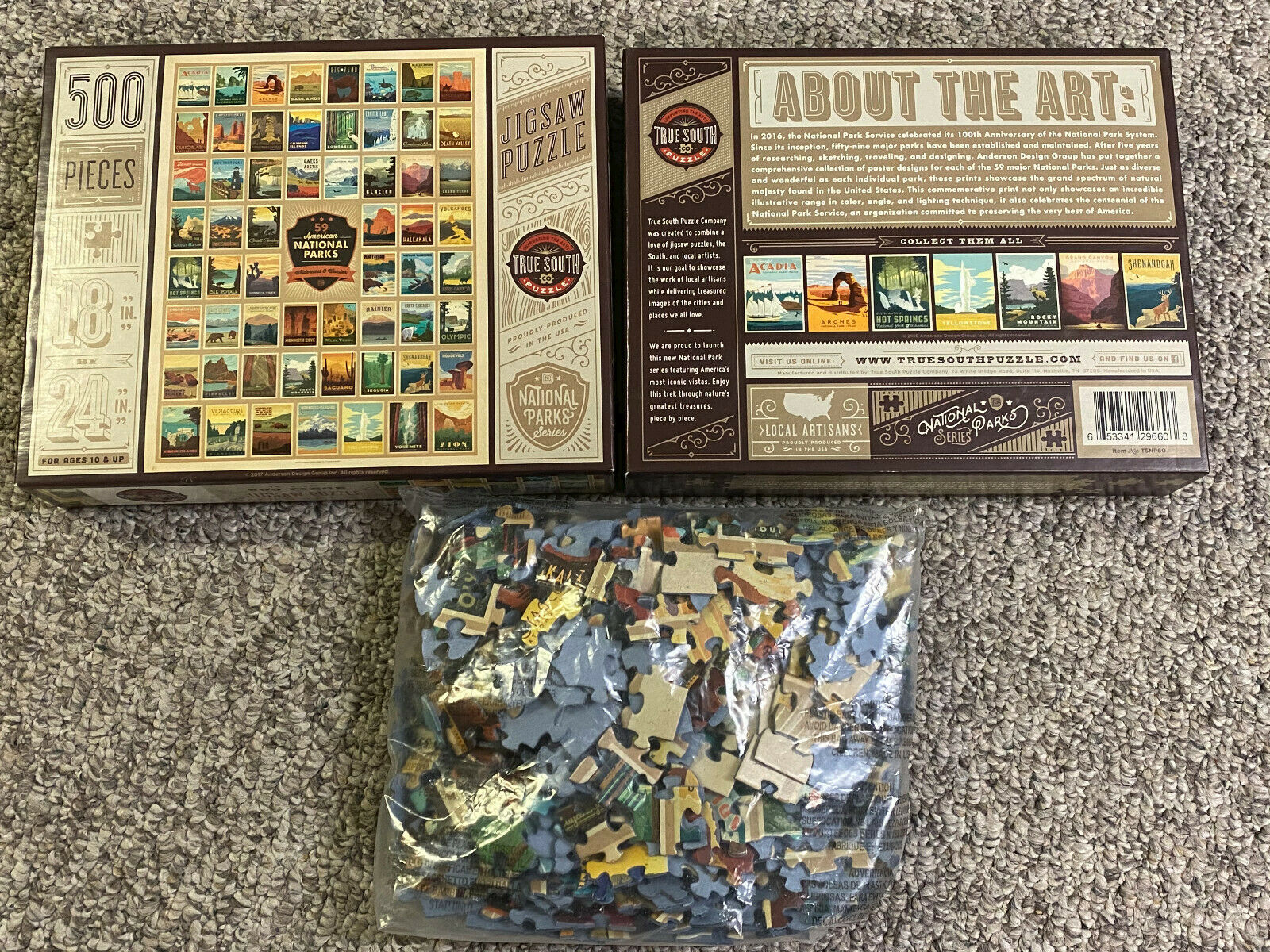 2000 Pieces National Parks of the United States Jigsaw Puzzle