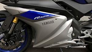 Details Zu Yzf R125 Verkleidung Aufkleber Links Original Yamaha