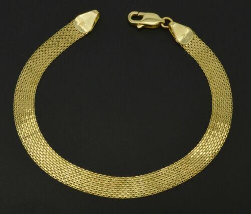 """10k Jaune or Massif Bismark-Link Bracelet 7 mm 7/"""" 7.5/"""" 8/"""""""