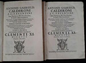Antonii Gabrielis Calderoni: Resolutiones Forenses Sacræ Rotæ Romanae (2vol)1709