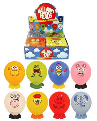 ANIMAL BALLOON HEADS Sticker Girl Boy Kids Children Party Bag Favor Gift Toys UK