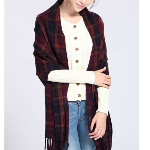 New Trendy Women Winter Plaid Scarves Keep Warm Shawl Oversize Wrap Long Scarf