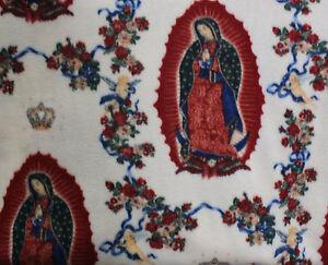 Virgin Mary Fleece Fabric By The Yard Ebay