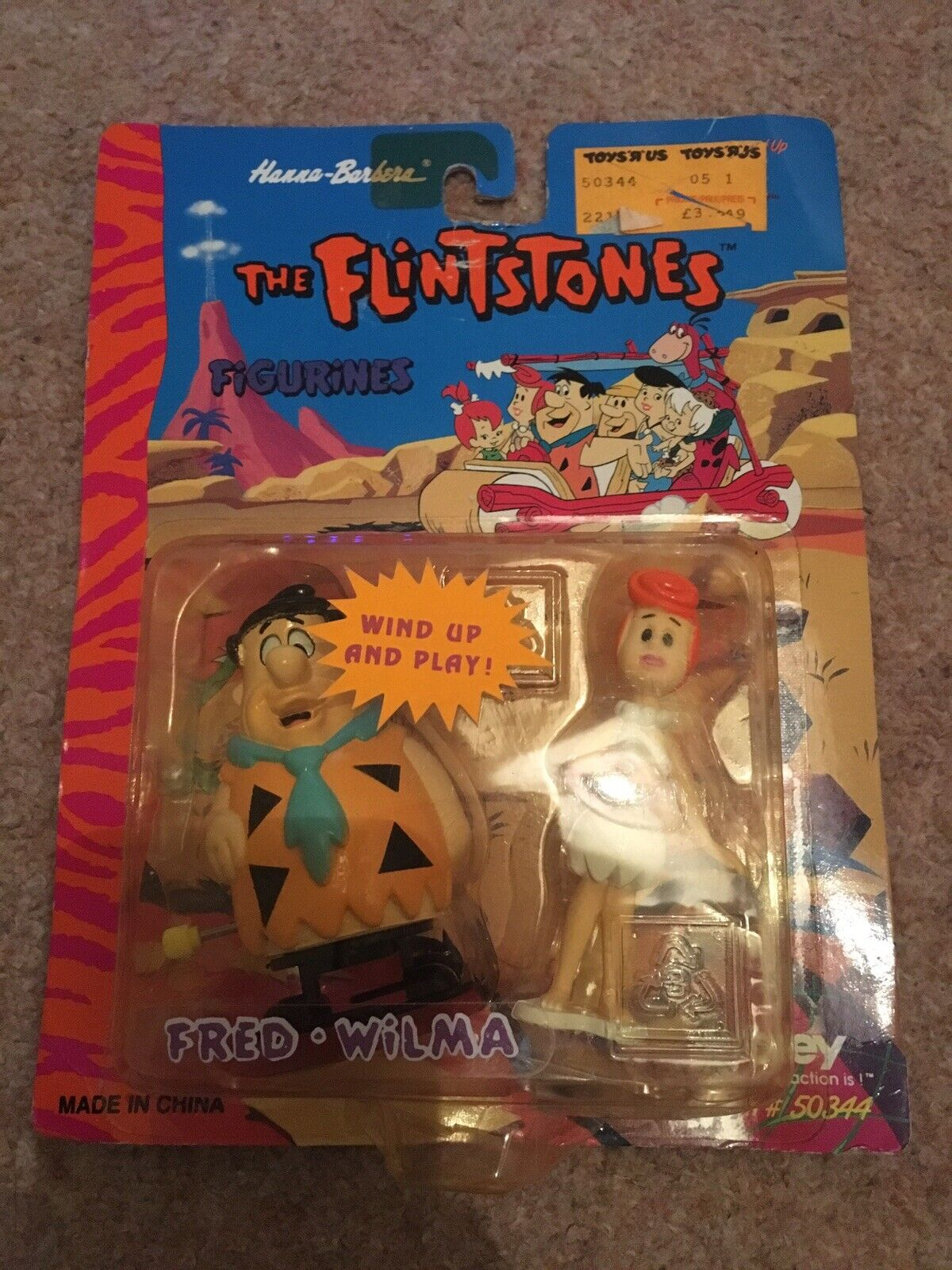 The Flintstones Wind Up Fred And Wilma Figurines 1994