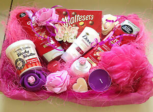 Image Is Loading LADIES LUXURY HAMPER BASKET MUM SISTER AUNT BIRTHDAY