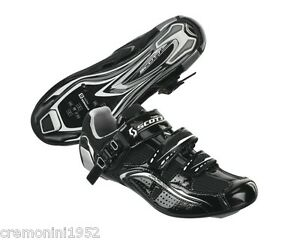 SCOTT-scarpe-bici-corsa-strada-road-shoes-bike-black-nere-nero-lucido-PRO-man