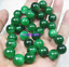 "NOUVEAU 10 mm naturel ronde vert jade jadeite pierres précieuses Collier 18-100/"""