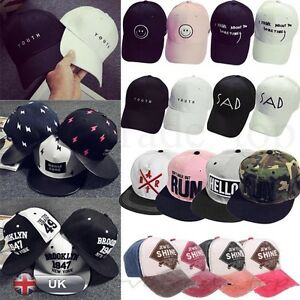 Mujeres-Para-hombres-Moda-Ajustable-Gorra-De-Beisbol-Gorra-Hip-Hop-Sombrero-Sombrero-aplanada