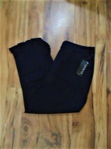 Women's Kim Rogers Petite Ruffle Trim Capri Pants-Size:  12P NWT