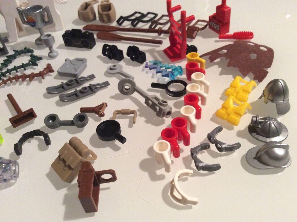 Lego blandet, Diverse tilbehør til minifigurer, lup