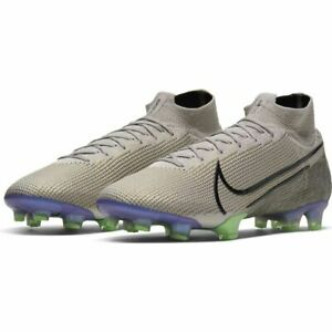 Nike-Mercurial-Superfly-7-Elite-FG-Silver-Black-Psychic-Purple-Green-size-10-5