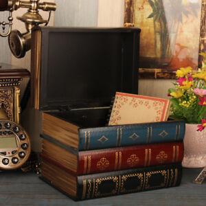 Details About Vintage Decorative Fake Book Hiddien Secret Storage Box Book Shelf Decor