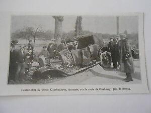 L-039-automobile-du-prince-Kitashirakawa-fracassee-pres-de-Berney-Image-Print-1923