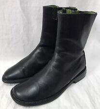 Donald J Pliner Women's Ankle Boots 7.5M Abia Black Leather Zip Mid-Calf Booties